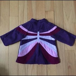 Gymboree Folk Song Butterfly Corduroy coat